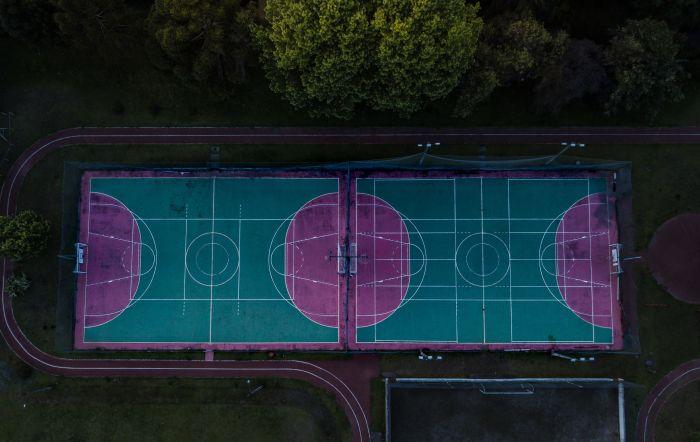 Basketballkorb Regeln Basketballplatz Größe